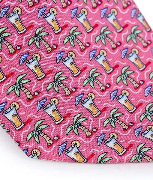 Vineyard Vines: Pink Palm & Drink Necktie