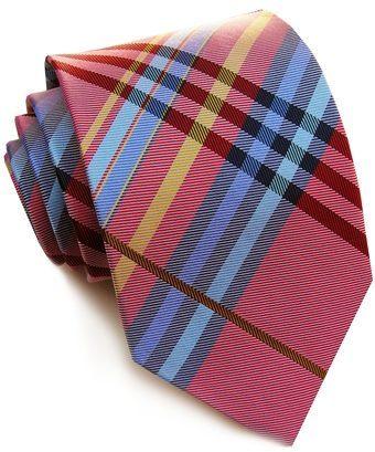 Bird Dog Bay: Red Venetian Plaid Necktie