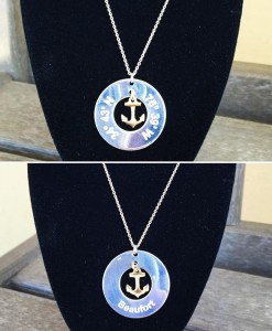 Lat & Lo: Beaufort Anchor Necklace with Sterling Silver and 14KG