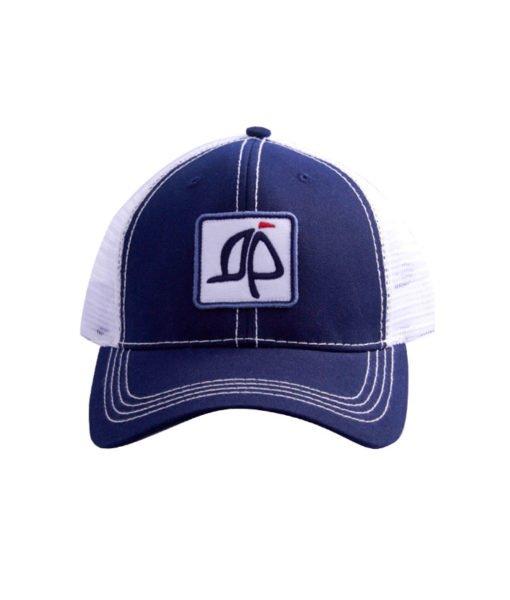 Island Proper Navy Trucker Logo Hat
