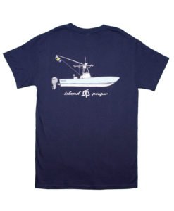 Island Proper Custom Navy Short Sleeve Regulator Comfort Colors Pocket Tee