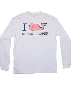 Vineyard Vines Custom I Whale Island Proper Tee in White Cap