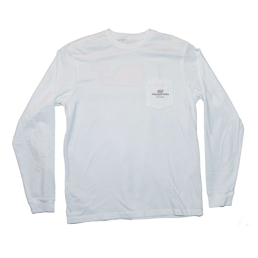 a473680bd Vineyard Vines Custom I Whale Island Proper Tee in White Cap.  2018-IP-Products-IWhaleIPLS-White-Front
