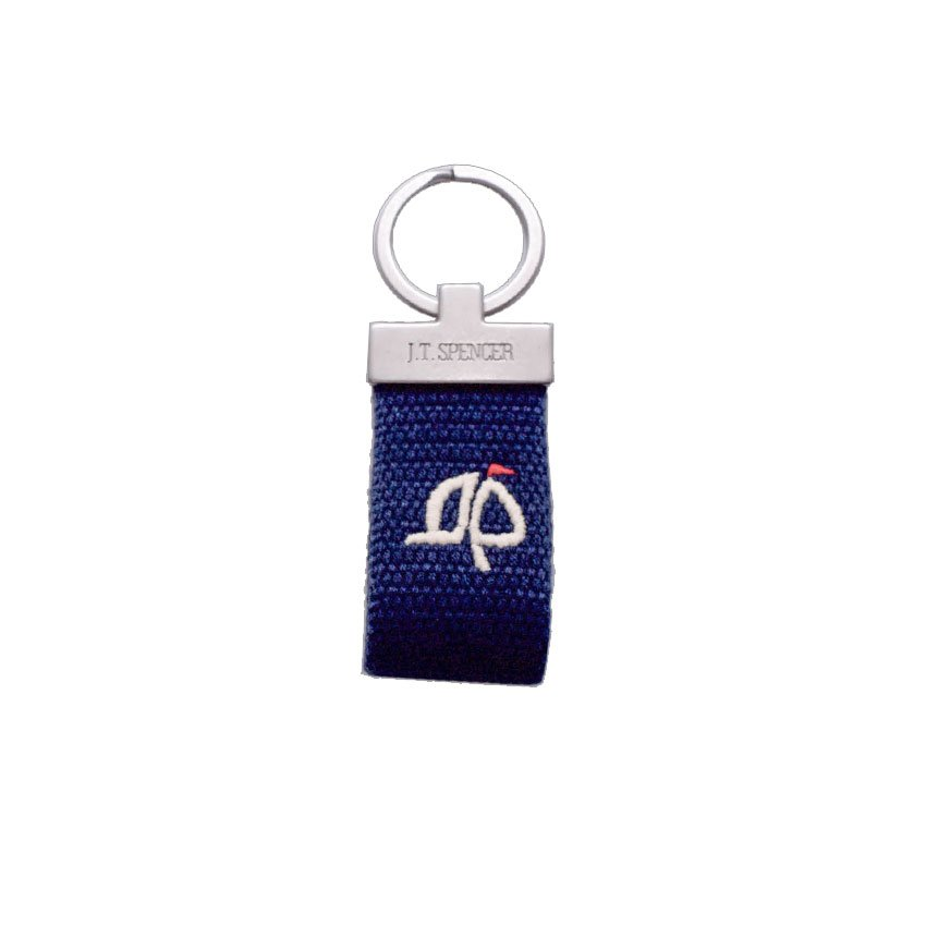 J.T. Spencer Custom Navy Island Proper Logo Key Fob