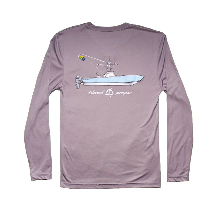 Long Sleeve Island Proper Regulator Performance Shirt in Grey