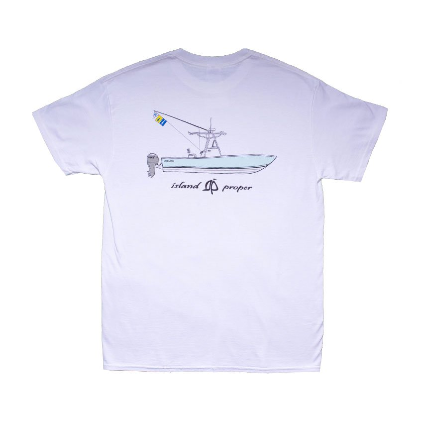 Island Proper Regulator Tee   White