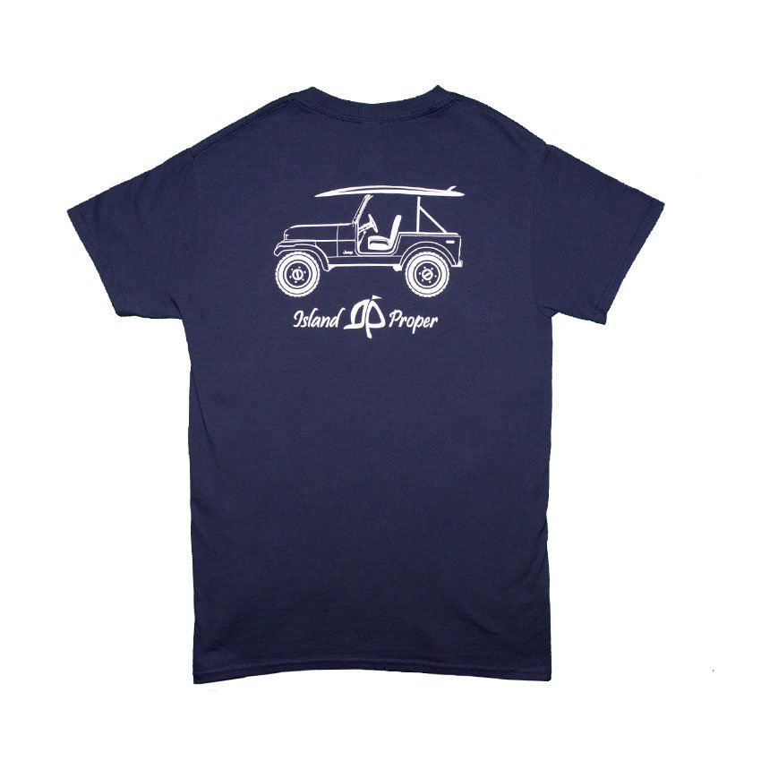 Island Proper Custom Jeep Tee in Navy