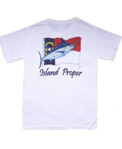 Island Proper Custom Marlin & NC Flag Comfort Colors Tee