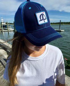 Island Proper Navy/Blue Trucker Logo Hat