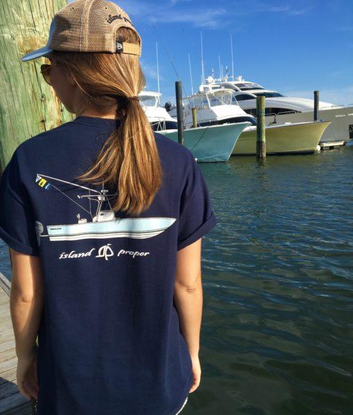 Island Proper Custom Navy Short Sleeve Regulator Tee