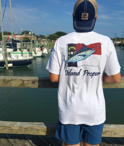 Island Proper Custom Marlin & NC Flag Comfort Colors Tee