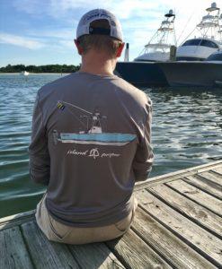 Long Sleeve Island Proper Regulator Performance Shirt in Grey