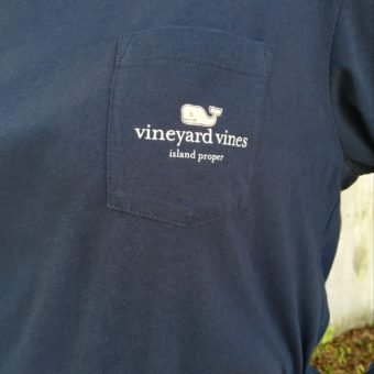 Vineyard Vines Custom I Whale Island Proper Tee in Blue Blazer