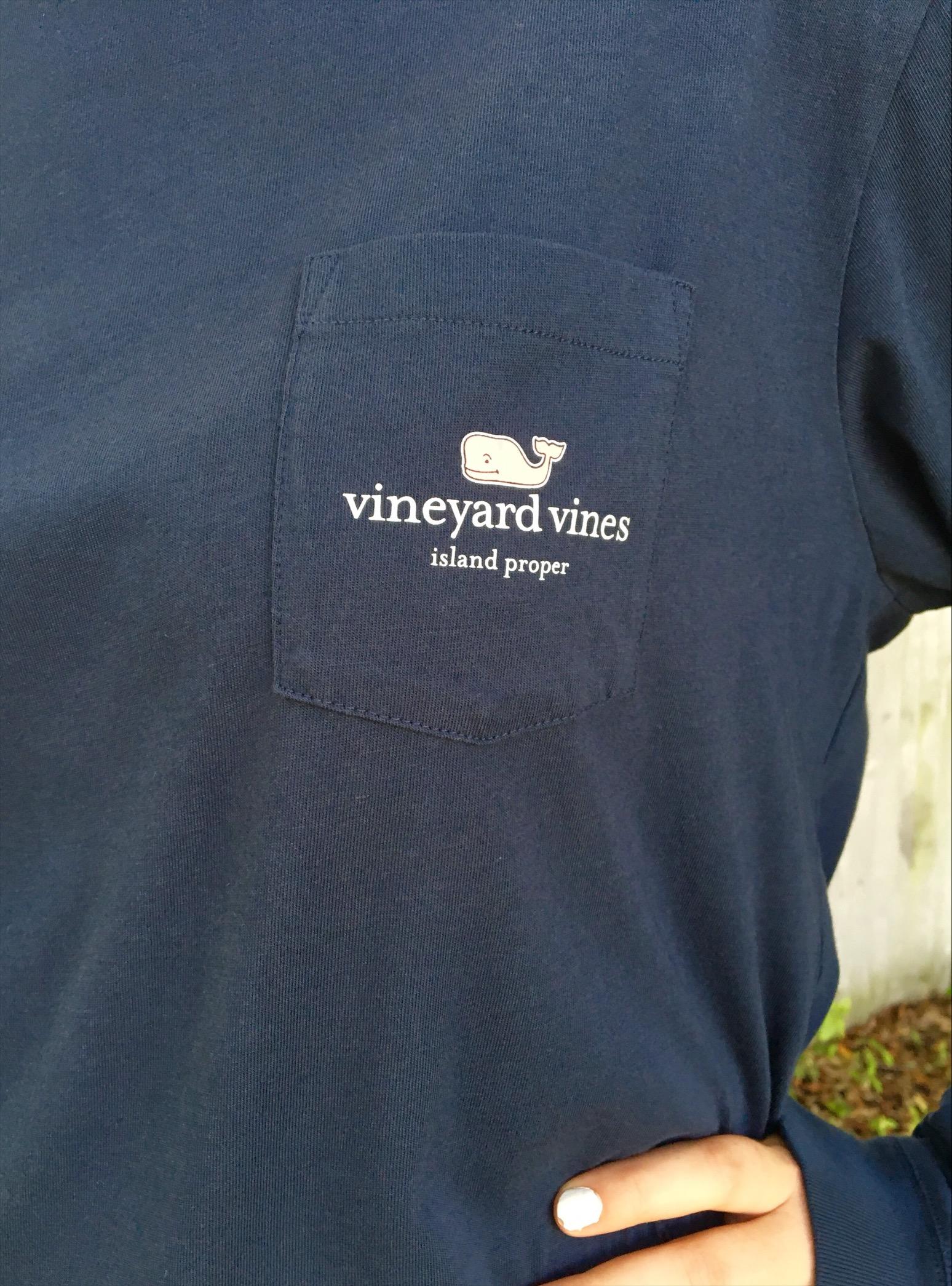 2c2bacade ... Vineyard Vines Custom I Whale Island Proper Tee in Blue Blazer ...