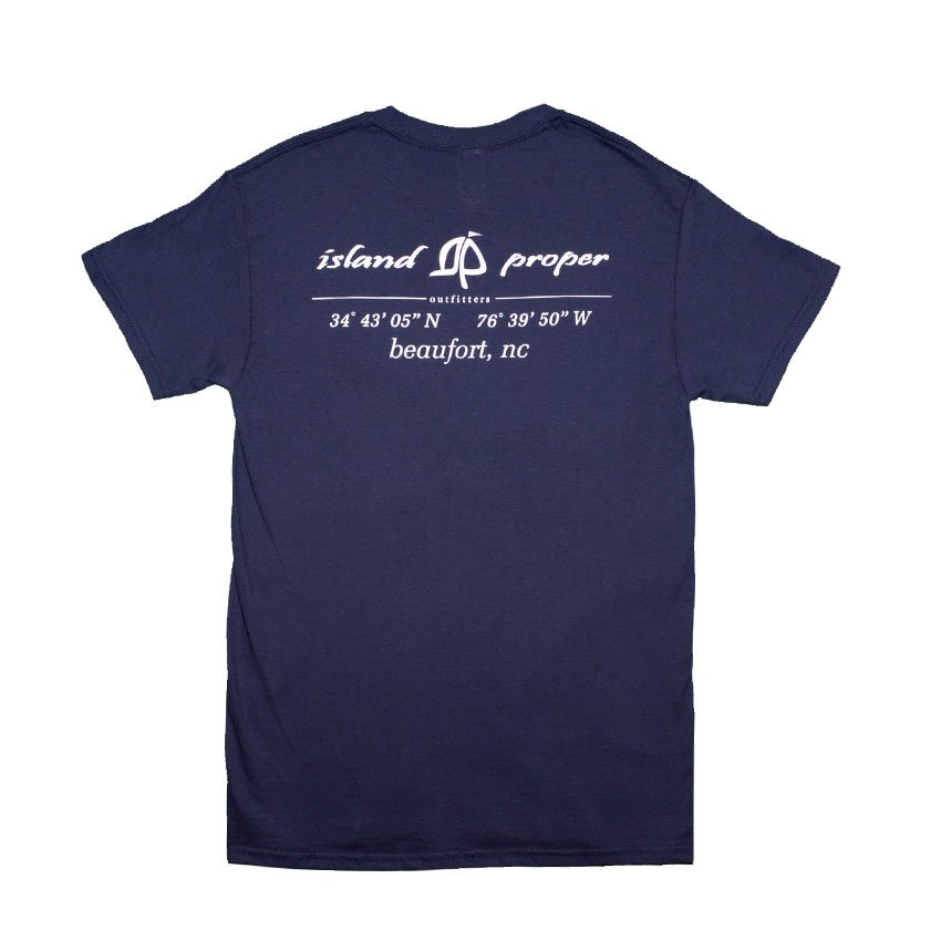 Island Proper Lat & Lo Beaufort Comfort Colors Pocket Tee