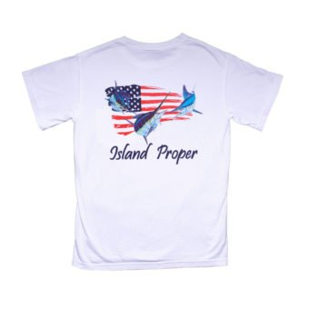 Island Proper Comfort Colors Marlin & Flag Tee in White