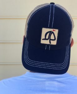 Island Proper Navy & Khaki Mesh Logo Hat